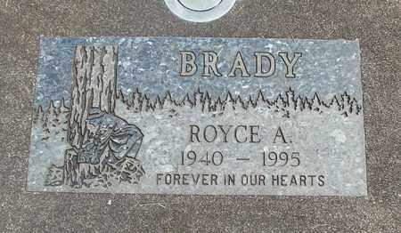 BRADY, ROYCE ALVIN - Linn County, Oregon   ROYCE ALVIN BRADY - Oregon Gravestone Photos