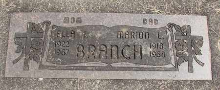 BRANCH, ELLA I - Linn County, Oregon | ELLA I BRANCH - Oregon Gravestone Photos