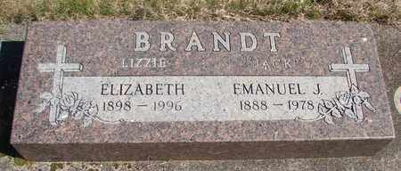 BRANDT, ELIZABETH - Linn County, Oregon | ELIZABETH BRANDT - Oregon Gravestone Photos