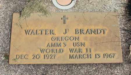 BRANDT, WALTER J - Linn County, Oregon | WALTER J BRANDT - Oregon Gravestone Photos