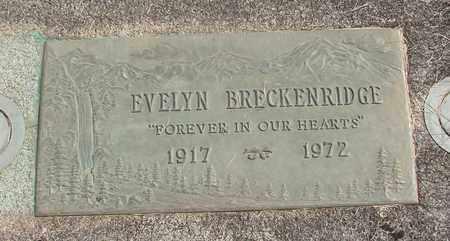BRECKENRIDGE, EVELYN - Linn County, Oregon   EVELYN BRECKENRIDGE - Oregon Gravestone Photos