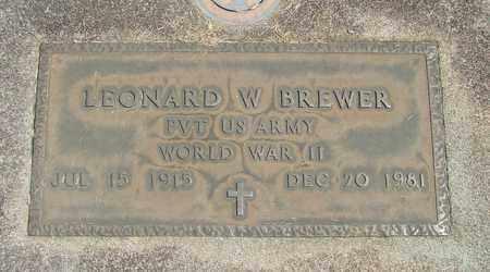 BREWER, LEONARD W - Linn County, Oregon | LEONARD W BREWER - Oregon Gravestone Photos