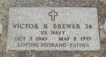 BREWER (SERV), VICTOR ROBERT, SR - Linn County, Oregon | VICTOR ROBERT, SR BREWER (SERV) - Oregon Gravestone Photos