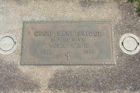 BRIDGE, CECIL EARL - Linn County, Oregon | CECIL EARL BRIDGE - Oregon Gravestone Photos