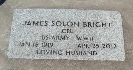 BRIGHT (WWII), JAMES SOLON - Linn County, Oregon | JAMES SOLON BRIGHT (WWII) - Oregon Gravestone Photos