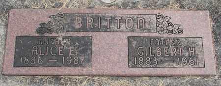 BRITTON, ALICE ELINORE - Linn County, Oregon | ALICE ELINORE BRITTON - Oregon Gravestone Photos