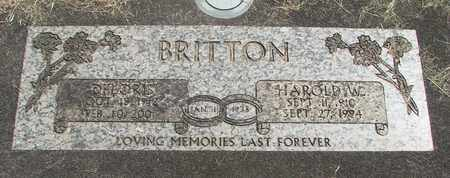 BRITTON, HAROLD WAYNE - Linn County, Oregon | HAROLD WAYNE BRITTON - Oregon Gravestone Photos