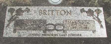 BRITTON, DELORIS - Linn County, Oregon | DELORIS BRITTON - Oregon Gravestone Photos