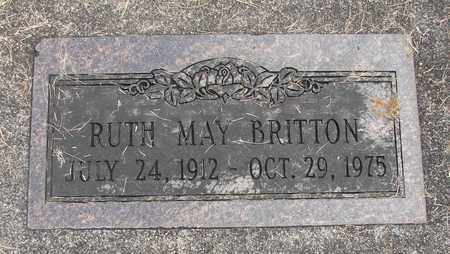 BRITTON, RUTH MAY - Linn County, Oregon | RUTH MAY BRITTON - Oregon Gravestone Photos