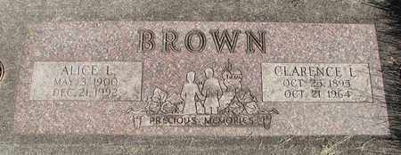 BROWN, ALICE LOUISE - Linn County, Oregon | ALICE LOUISE BROWN - Oregon Gravestone Photos