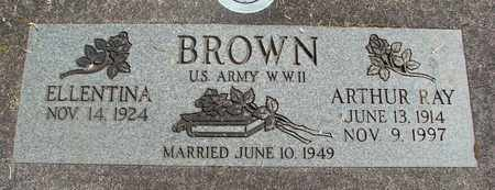 BROWN, ELLENTINA - Linn County, Oregon | ELLENTINA BROWN - Oregon Gravestone Photos