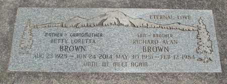 BROWN, BETTY LORETTA - Linn County, Oregon | BETTY LORETTA BROWN - Oregon Gravestone Photos