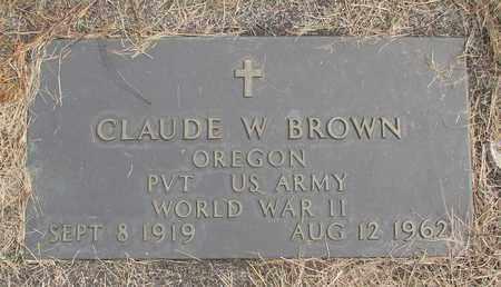 BROWN, CLAUDE W - Linn County, Oregon | CLAUDE W BROWN - Oregon Gravestone Photos