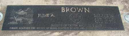 BROWN, DENNIS WAYNE - Linn County, Oregon | DENNIS WAYNE BROWN - Oregon Gravestone Photos