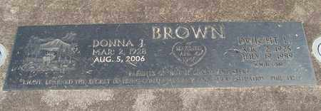 BROWN, DONNA J - Linn County, Oregon | DONNA J BROWN - Oregon Gravestone Photos