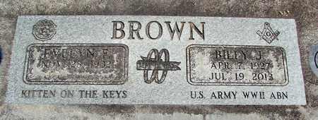 BROWN, BILLY JOE - Linn County, Oregon | BILLY JOE BROWN - Oregon Gravestone Photos