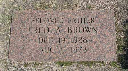 BROWN, FRED A - Linn County, Oregon | FRED A BROWN - Oregon Gravestone Photos