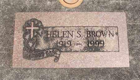 BROWN, HELEN S - Linn County, Oregon   HELEN S BROWN - Oregon Gravestone Photos