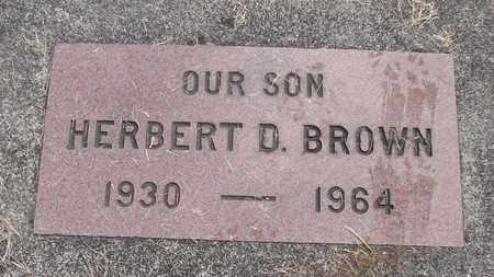 BROWN, HERBERT D - Linn County, Oregon | HERBERT D BROWN - Oregon Gravestone Photos