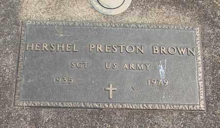 BROWN, HERSHEL PRESTON, SR - Linn County, Oregon   HERSHEL PRESTON, SR BROWN - Oregon Gravestone Photos