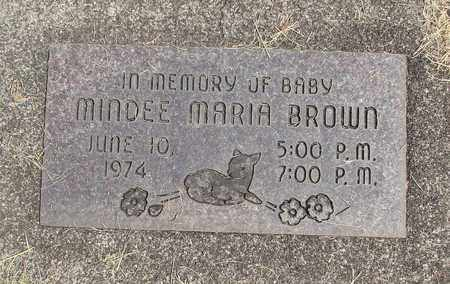 BROWN, MINDEE MARIA - Linn County, Oregon | MINDEE MARIA BROWN - Oregon Gravestone Photos