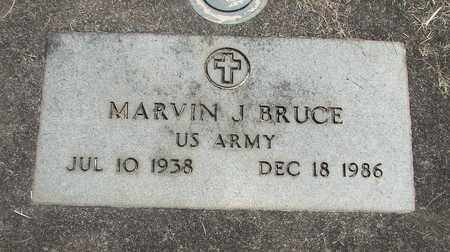 BRUCE (SERV), MARVIN JOHN - Linn County, Oregon | MARVIN JOHN BRUCE (SERV) - Oregon Gravestone Photos