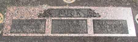 BUCK, ALICE S - Linn County, Oregon | ALICE S BUCK - Oregon Gravestone Photos