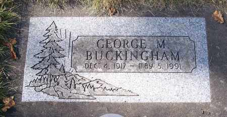 BUCKINGHAM, GEORGE M - Linn County, Oregon | GEORGE M BUCKINGHAM - Oregon Gravestone Photos