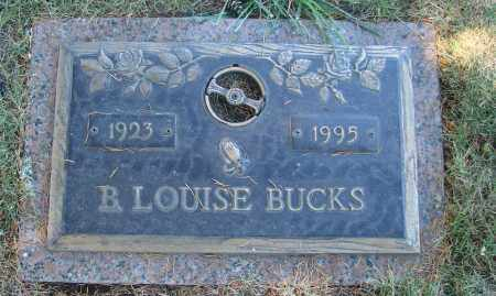 BUCKS, B LOUISE - Linn County, Oregon | B LOUISE BUCKS - Oregon Gravestone Photos