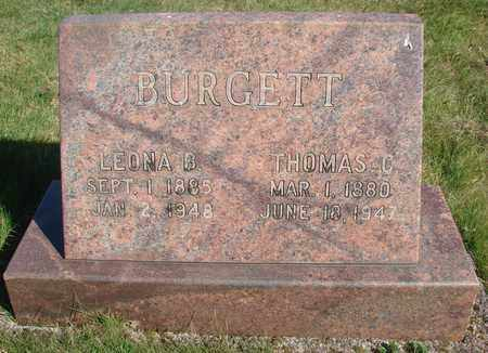 BURGETT, LEONA BELLE - Linn County, Oregon | LEONA BELLE BURGETT - Oregon Gravestone Photos