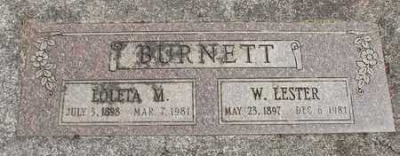 BURNETT, LOLETA MAE - Linn County, Oregon   LOLETA MAE BURNETT - Oregon Gravestone Photos