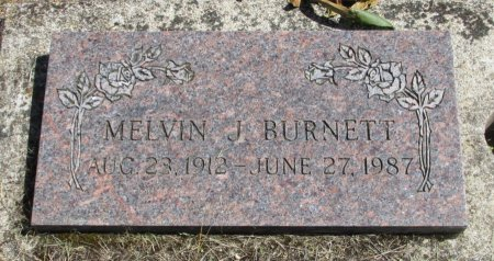 BURNETT, MELVIN JOHNSON - Linn County, Oregon | MELVIN JOHNSON BURNETT - Oregon Gravestone Photos