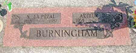 BURNINGHAM, N LA PREAL - Linn County, Oregon | N LA PREAL BURNINGHAM - Oregon Gravestone Photos