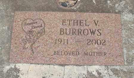 BURROWS, ETHEL VIOLET - Linn County, Oregon | ETHEL VIOLET BURROWS - Oregon Gravestone Photos