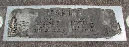 CAHILL, LOWELL ALFRED - Linn County, Oregon   LOWELL ALFRED CAHILL - Oregon Gravestone Photos