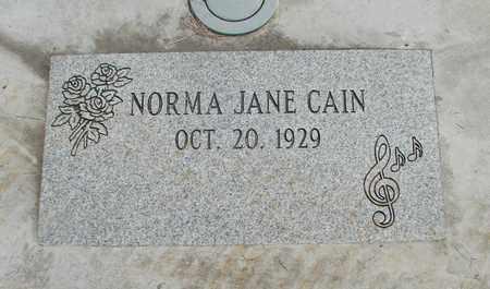 CAIN, NORMA JANE - Linn County, Oregon | NORMA JANE CAIN - Oregon Gravestone Photos