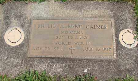CAINES, PHILIP ALBERT - Linn County, Oregon | PHILIP ALBERT CAINES - Oregon Gravestone Photos