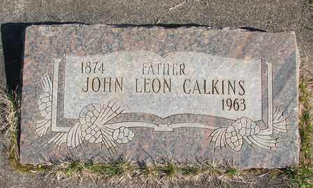 CALKINS, JOHN LEON - Linn County, Oregon   JOHN LEON CALKINS - Oregon Gravestone Photos