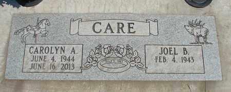 CARE, CAROLYN A - Linn County, Oregon   CAROLYN A CARE - Oregon Gravestone Photos