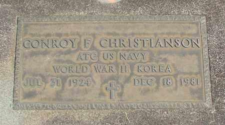 CHRISTIANSON, CONROY F - Linn County, Oregon | CONROY F CHRISTIANSON - Oregon Gravestone Photos