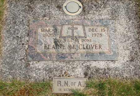 CLOVER, ELAINE M - Linn County, Oregon | ELAINE M CLOVER - Oregon Gravestone Photos