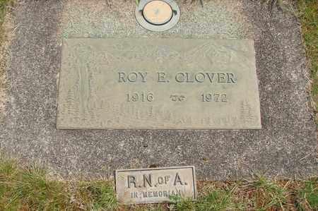 CLOVER, ROY E - Linn County, Oregon   ROY E CLOVER - Oregon Gravestone Photos