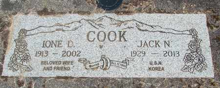 COOK, IONE D - Linn County, Oregon | IONE D COOK - Oregon Gravestone Photos