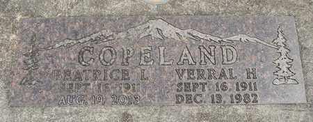 COPELAND, VERRAL H - Linn County, Oregon | VERRAL H COPELAND - Oregon Gravestone Photos