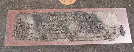 CRENSHAW, LOLA - Linn County, Oregon | LOLA CRENSHAW - Oregon Gravestone Photos