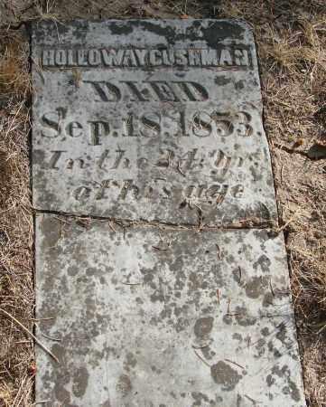 CUSHMAN, HOLLOWAY - Linn County, Oregon   HOLLOWAY CUSHMAN - Oregon Gravestone Photos