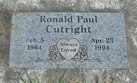 CUTRIGHT, RONALD PAUL - Linn County, Oregon | RONALD PAUL CUTRIGHT - Oregon Gravestone Photos