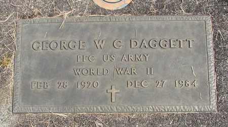 DAGGETT, GEORGE W C - Linn County, Oregon | GEORGE W C DAGGETT - Oregon Gravestone Photos
