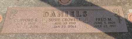 CROWELL DANIELS, SUSIE - Linn County, Oregon | SUSIE CROWELL DANIELS - Oregon Gravestone Photos