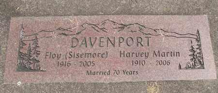 DAVENPORT, FLOY - Linn County, Oregon | FLOY DAVENPORT - Oregon Gravestone Photos